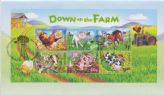 "04/10/2005 Australia FDC ""Down on the Farm"" Miniature Sheet"